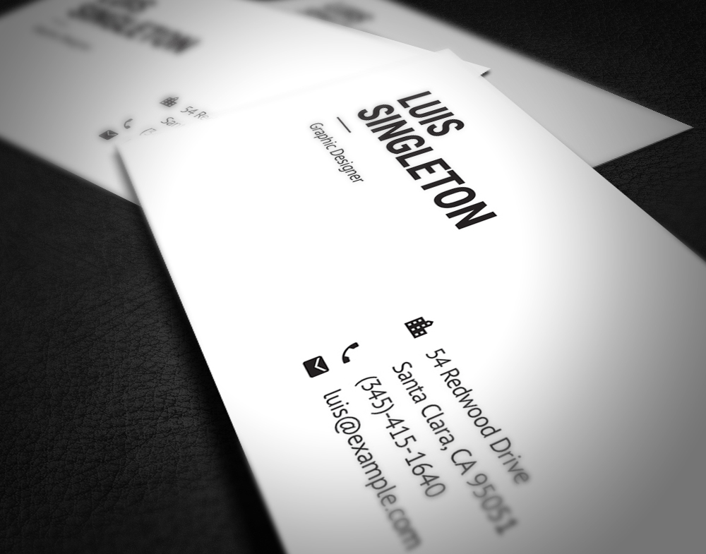 Clean and minimal business card template on behance wajeb Image collections