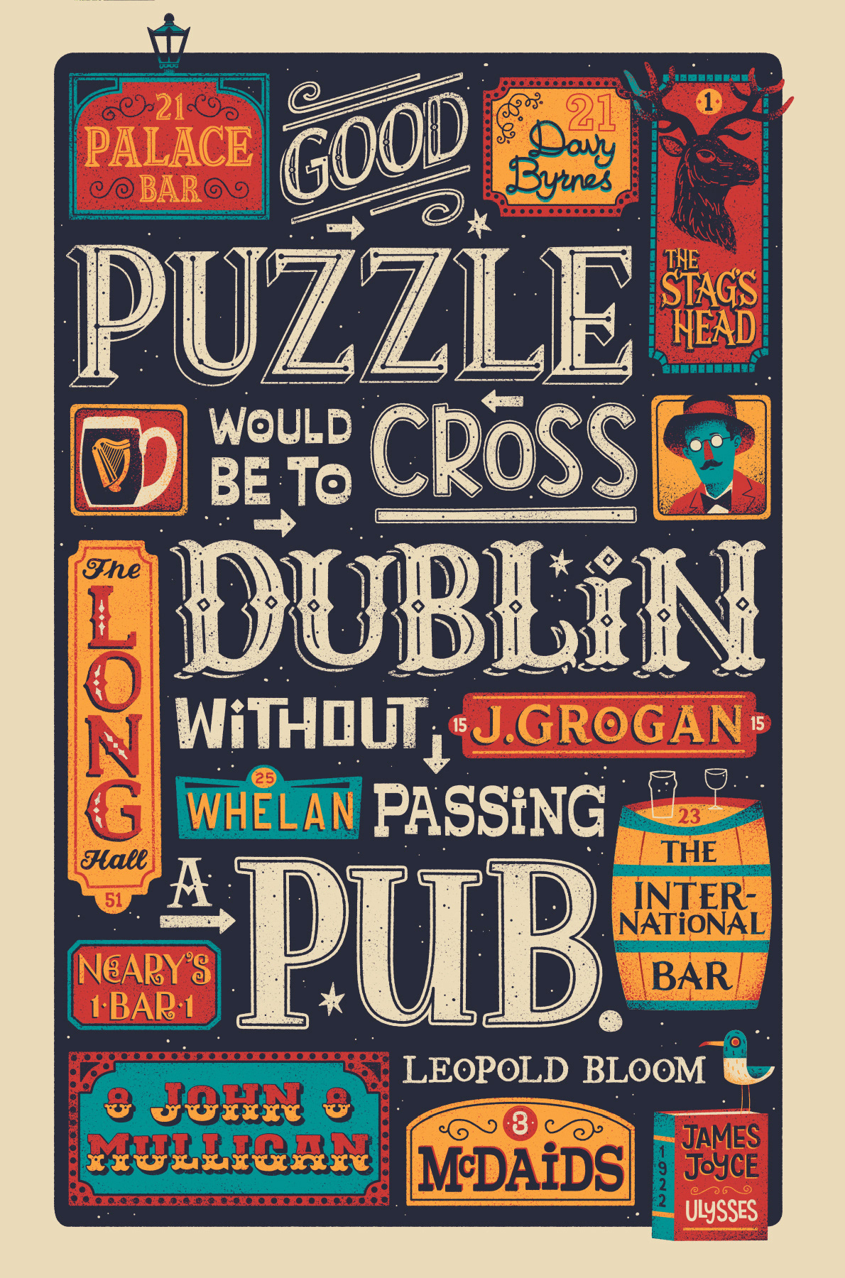 James Joyce quote illustrated by Steve Simpson - Good Puzzle