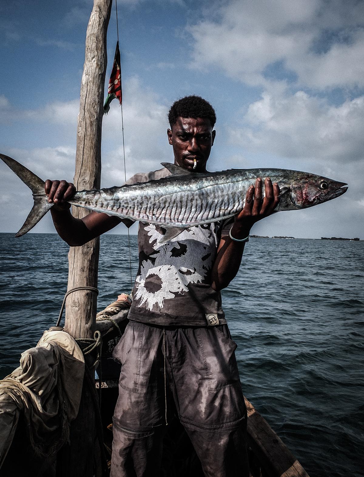 africa fish sea fishing Fisherman fishermen Swahili kenya Documentary  Work  african man men life adventure