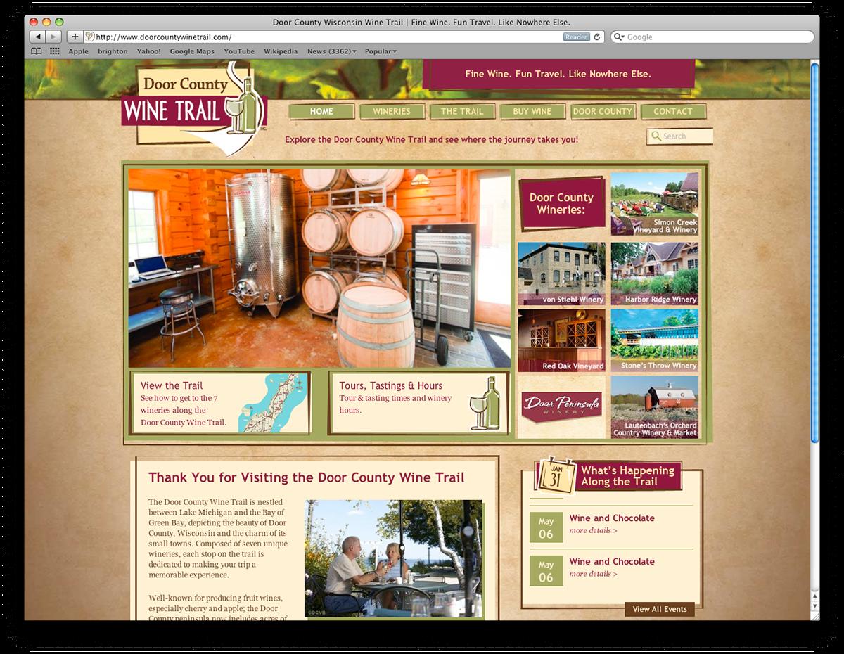 Door County Wine Trail on Behance on