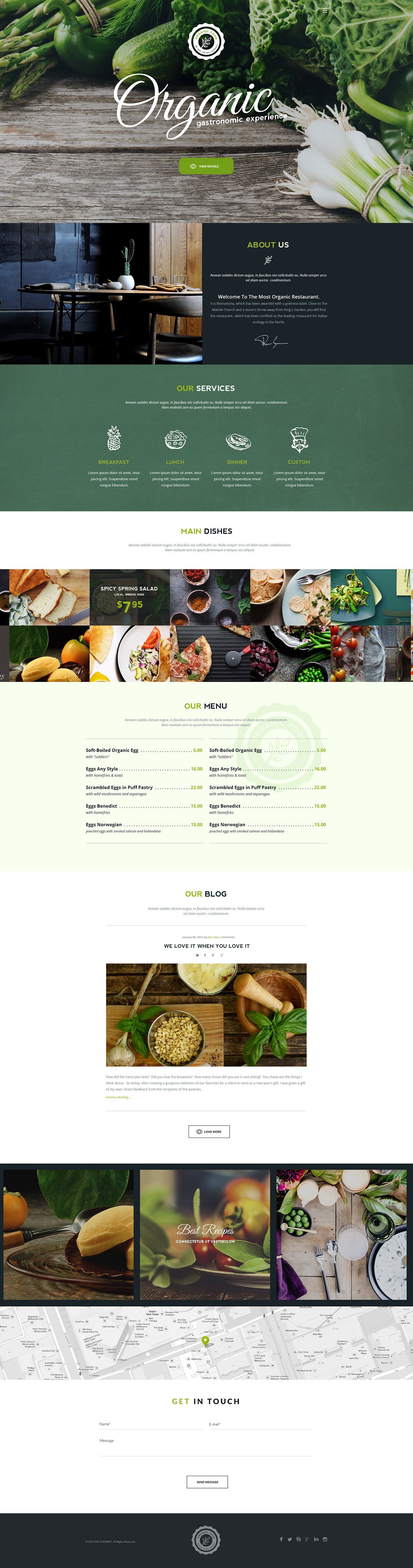 Organic – Food&Restaurant Theme on Behance