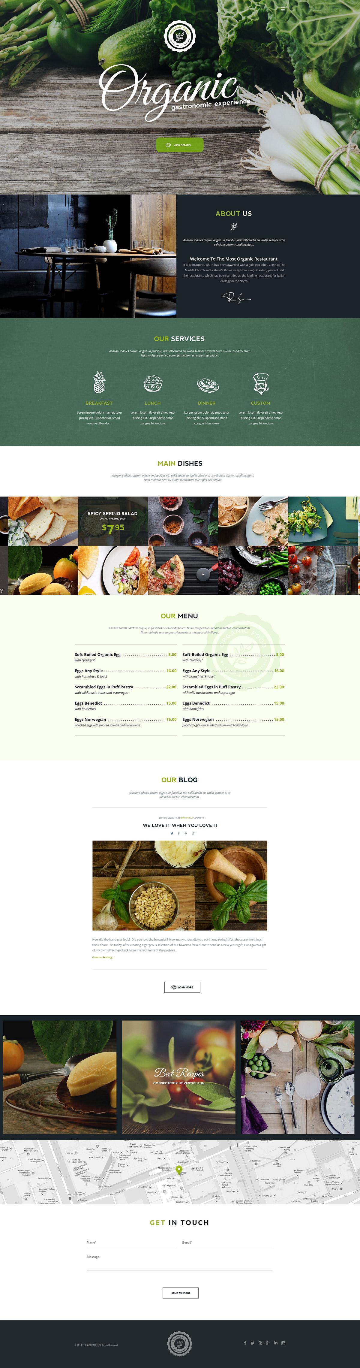 Organic – Food&Restaurant Theme on Behance