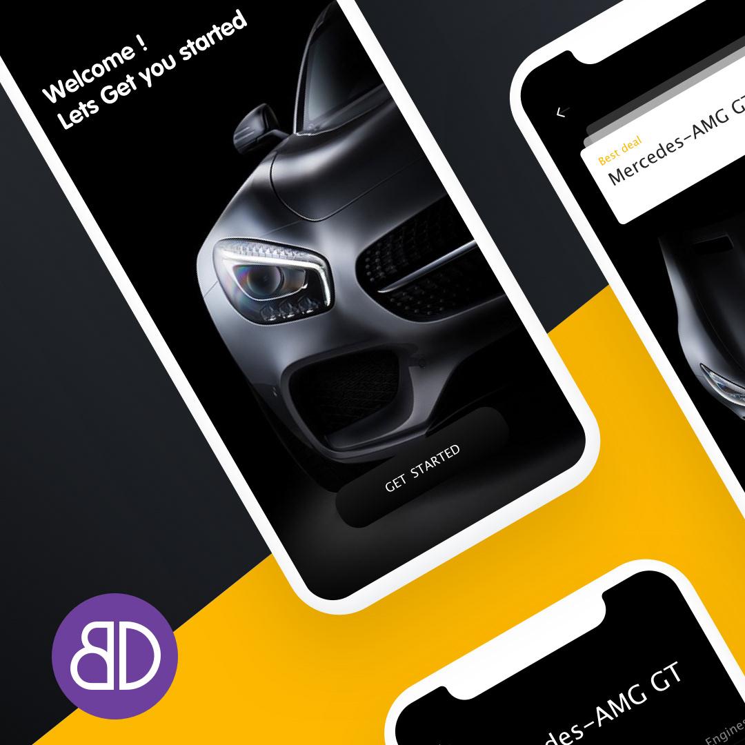 agency app Branding design digital marketing   mercedes mobileapp UI UI/UX ux