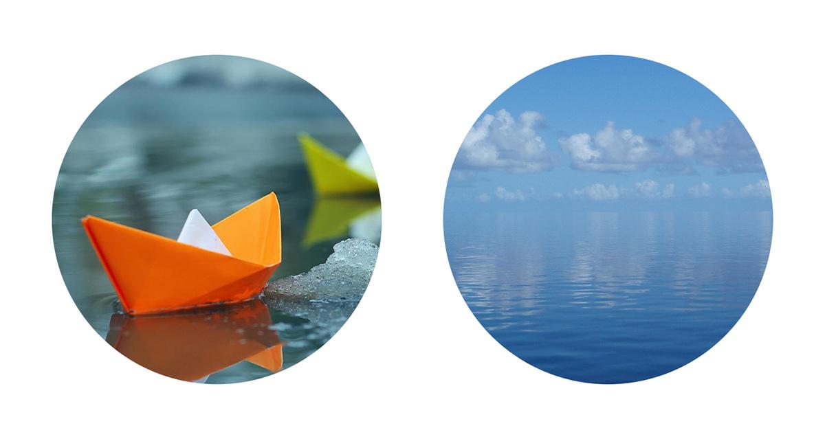 Stillwaters blue clean minimal Identity Design visual identity Ocean branding  Brand Design colorful