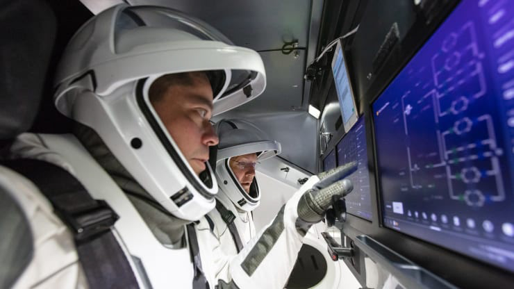 Spacex Cockpit On Behance