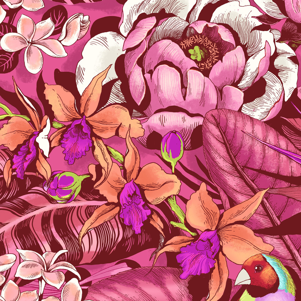 Stand Out Tropical Floral Pattern On Behance