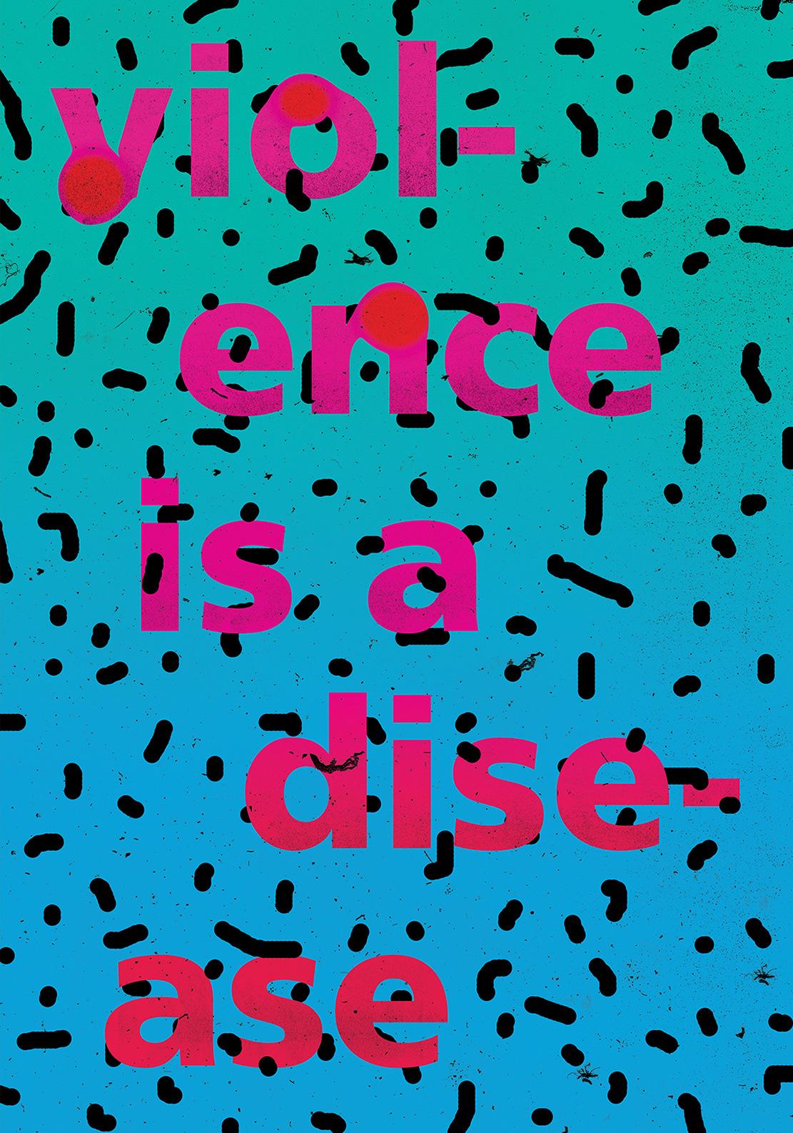 violence Disease poster graphic design  anti-war Iran peace