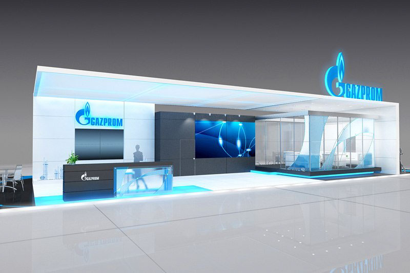 Exhibition Stand Design Companies : The company gazprom exhibition stand design. on behance