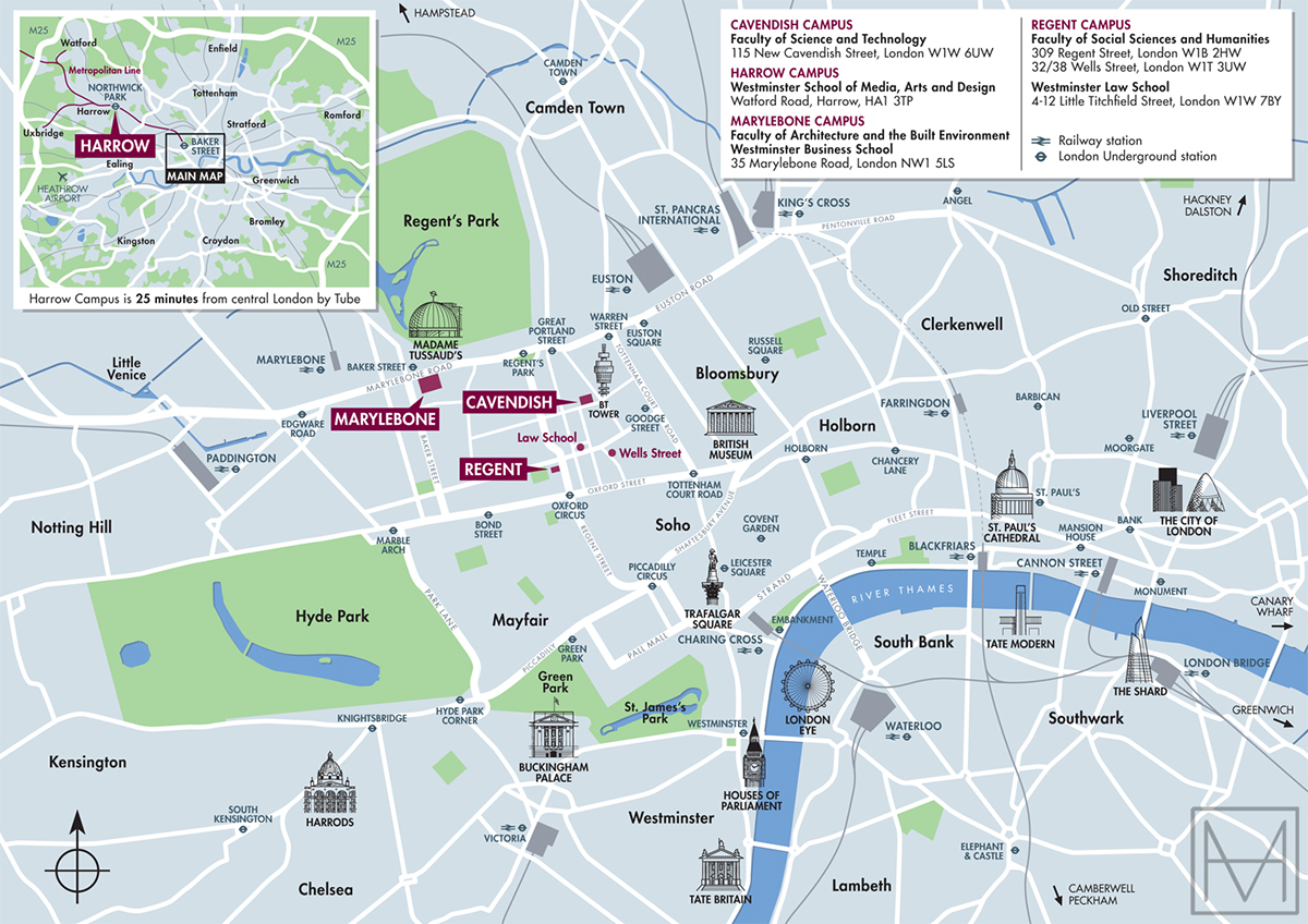 Campus Map For The University Of Westminster On Behance
