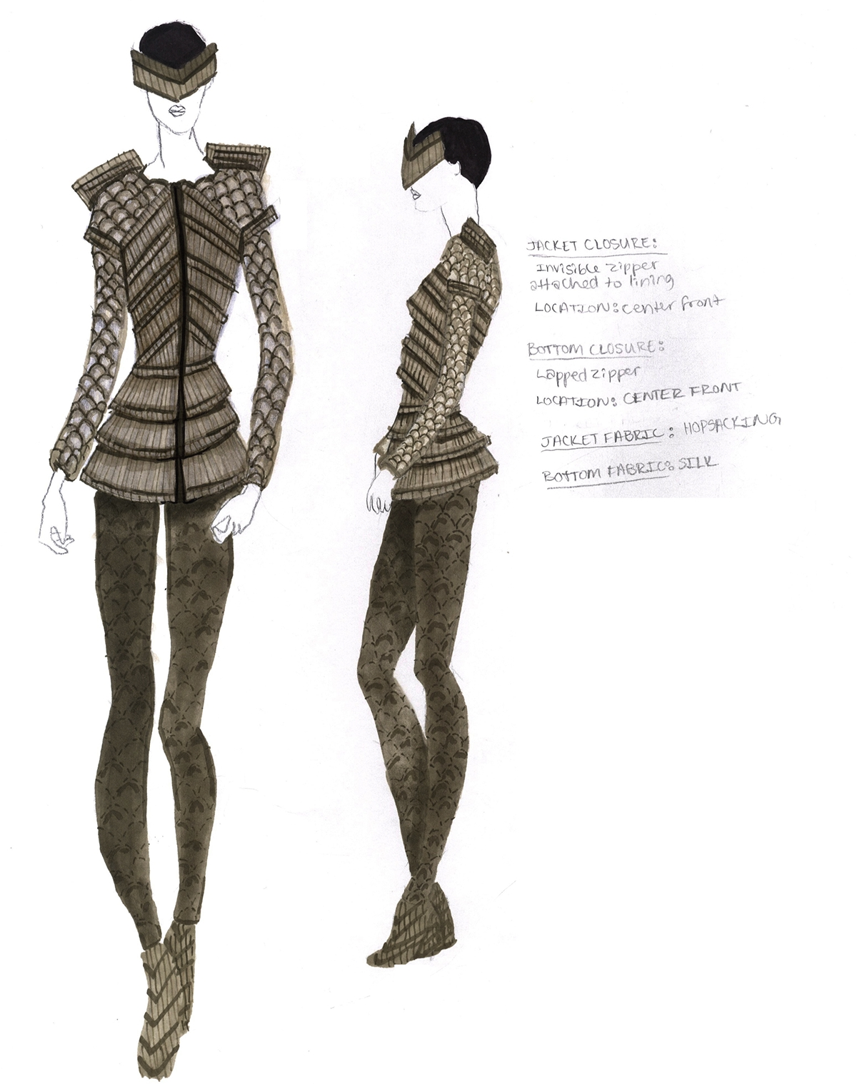 Conceptual To Actual - The Fashion Design Process On Behance