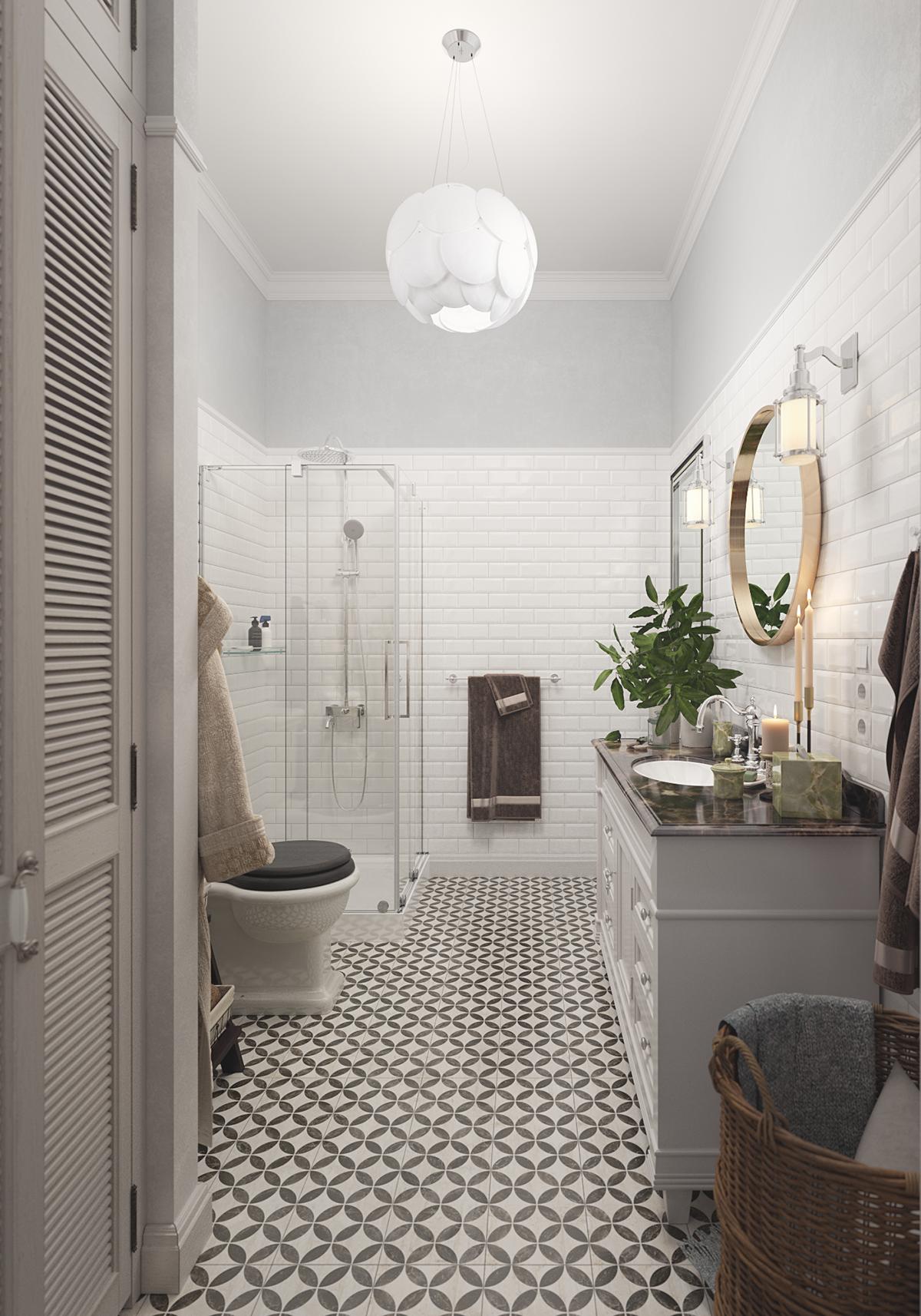 Scandinavian bathroom on Behance