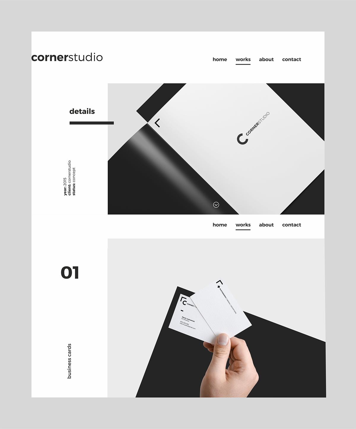 Portfolio website web design on behance for Design reference sites
