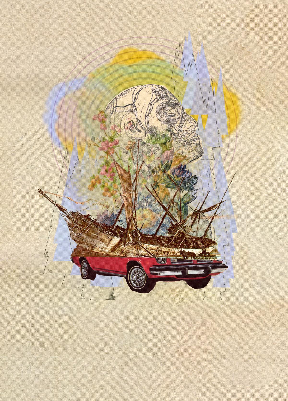 Image may contain: ship, art and boat
