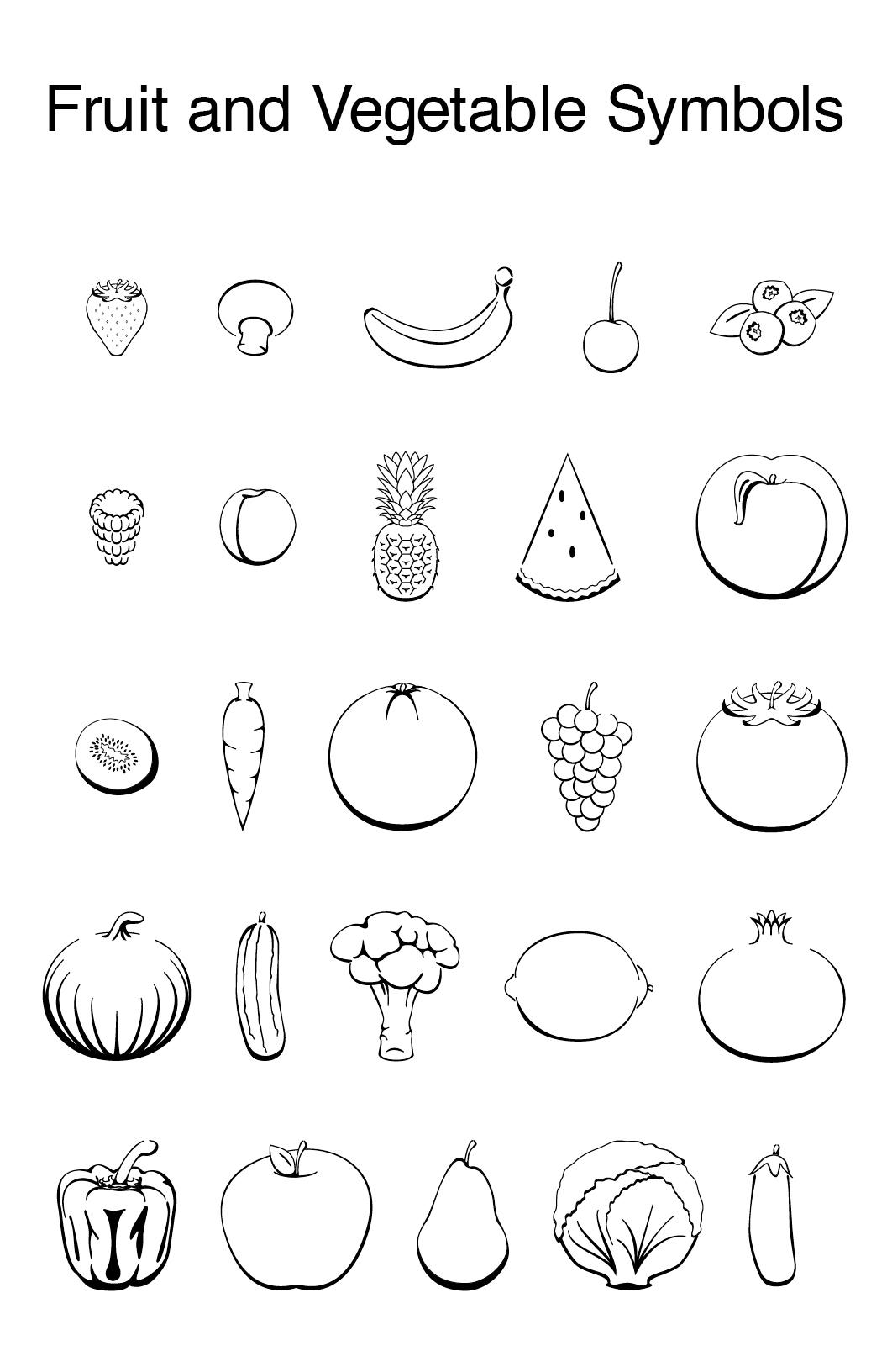 Fruit and vegetable symbols on behance buycottarizona Images