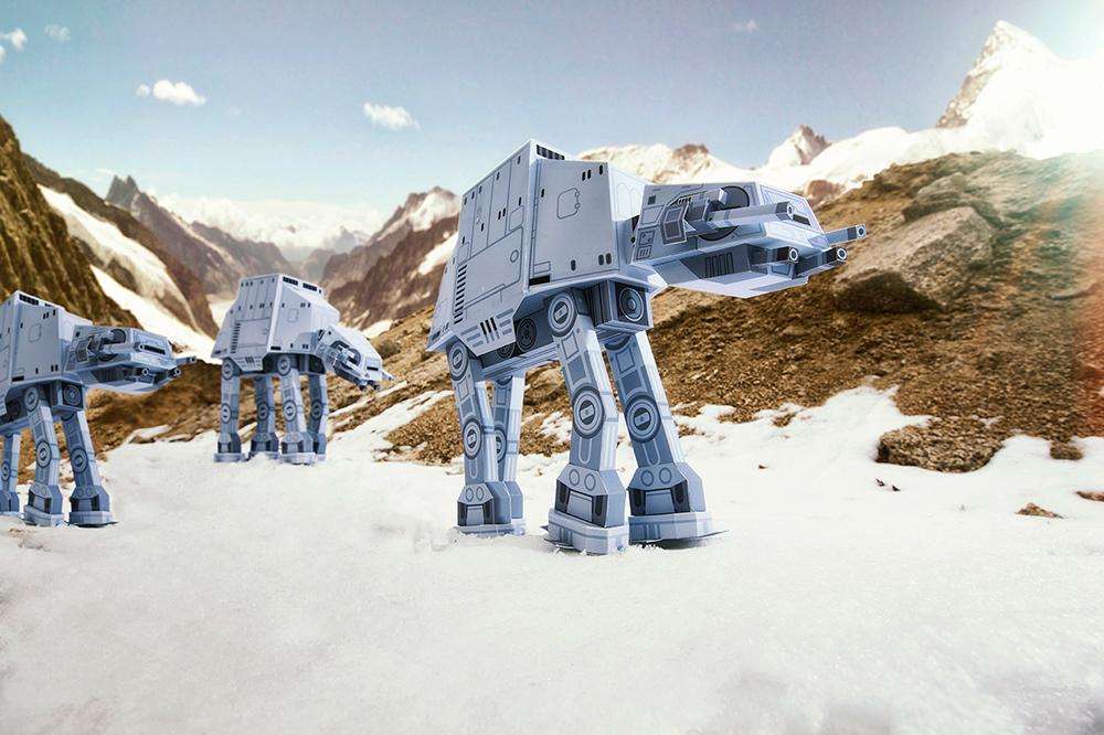 star wars momot paper toy stormtrooper paper art toy product darthvader