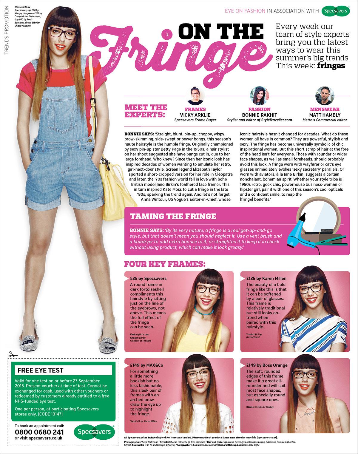 Metro Specsavers Eye on Fashion on Behance