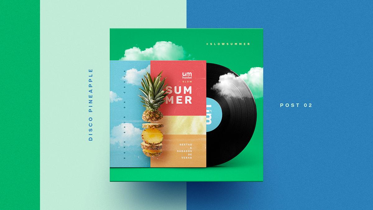 summer social media facebook post poster dj party colors instagram