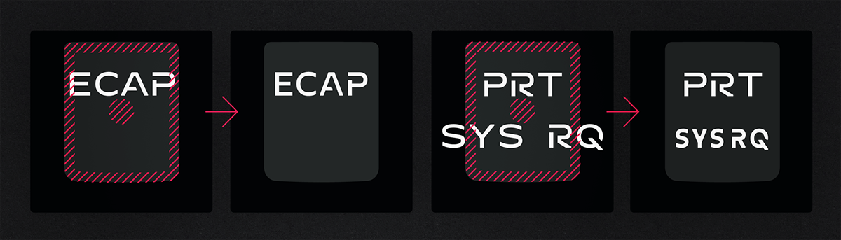 custom font Typeface branding  identity Engineering  corporate stencil