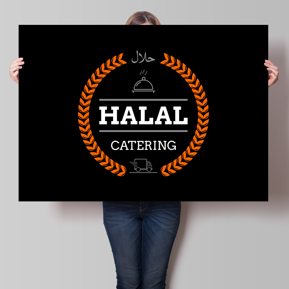 Logo for HALAL CATERING on Behance