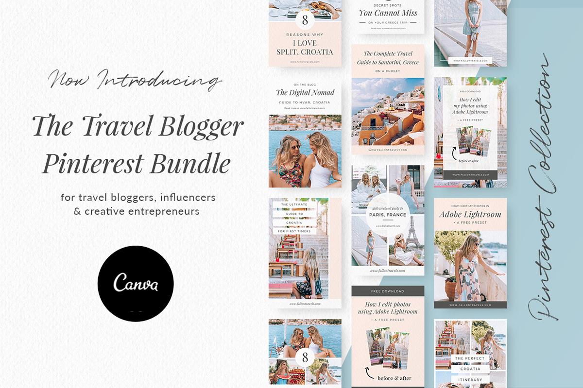 Travel Blogger Pinterest Bundle on Behance