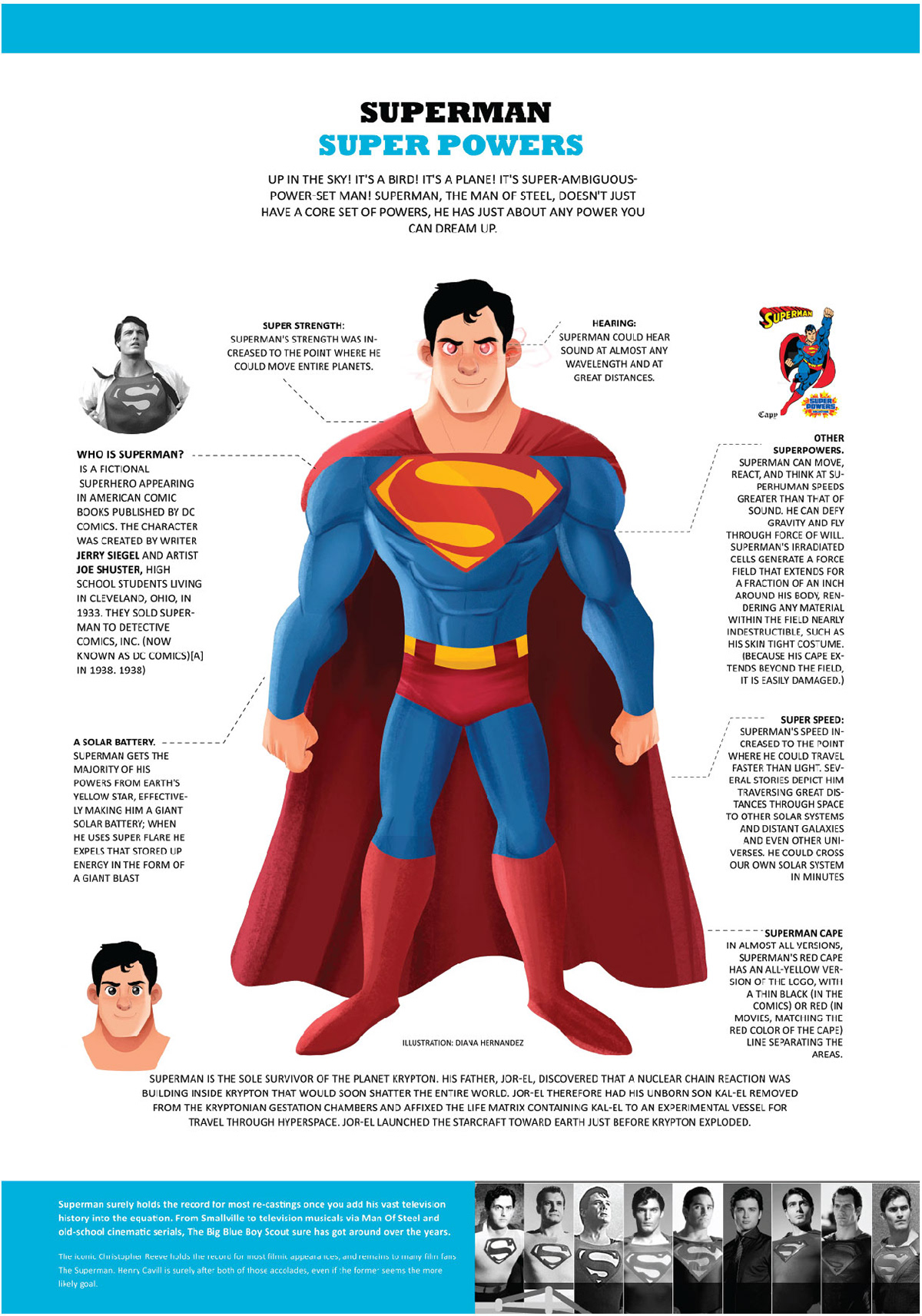 Superpowers Infographic+ gif on Behance