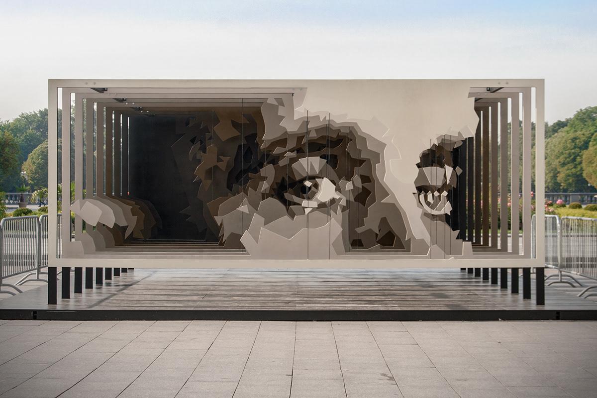 plywood installation melnikov eyes Gorky Park moscow871 stfnv artem stefanov public art freak fabrique