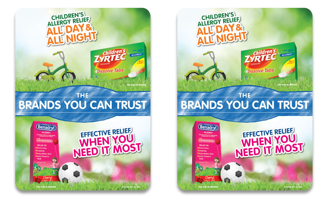 Children S Zyrtec Benadryl Shelf Talker On Behance