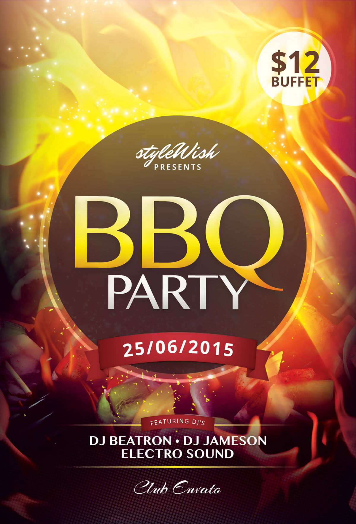 bbq party flyer on behance