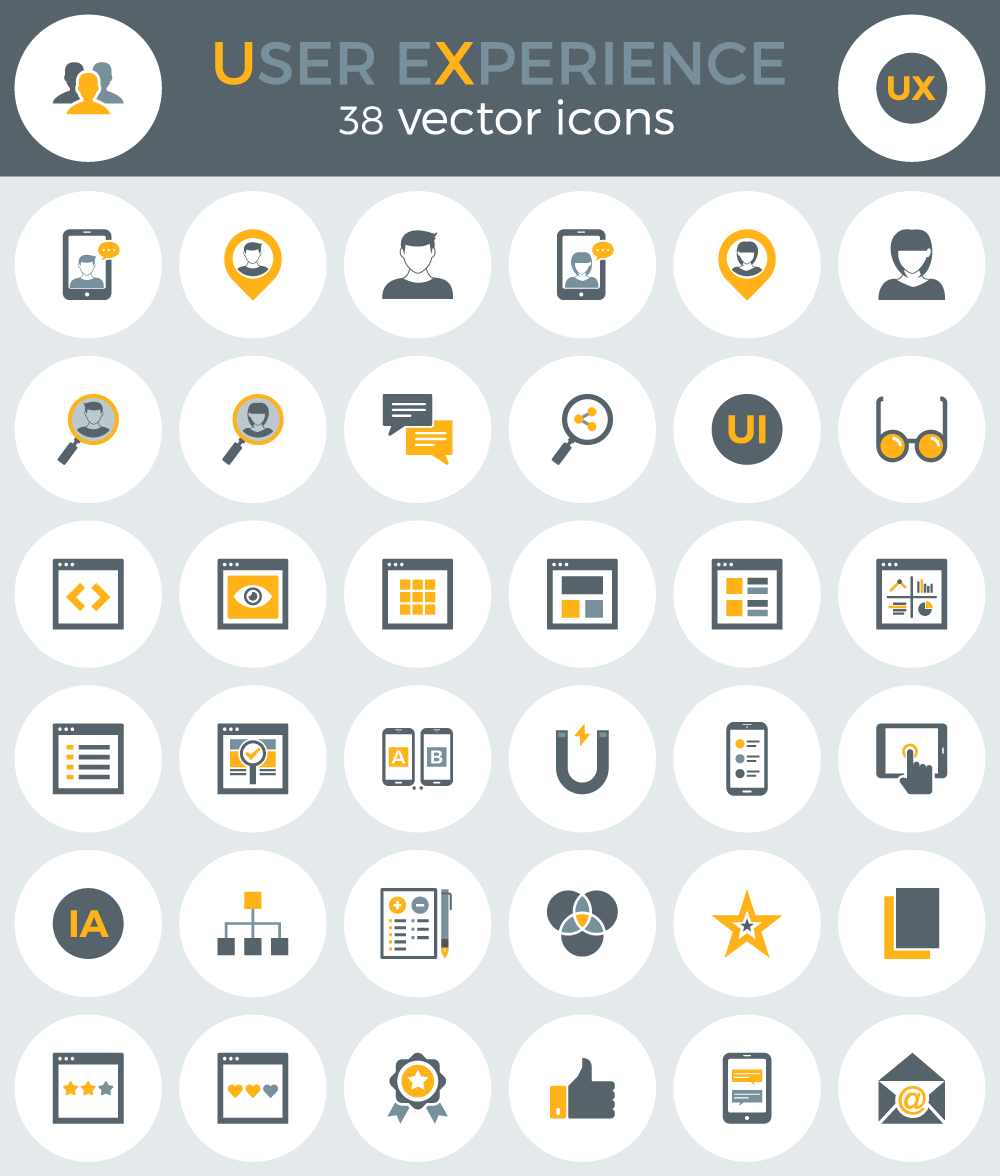 Free User Experience Icons EPS AI PNG SVG On Behance
