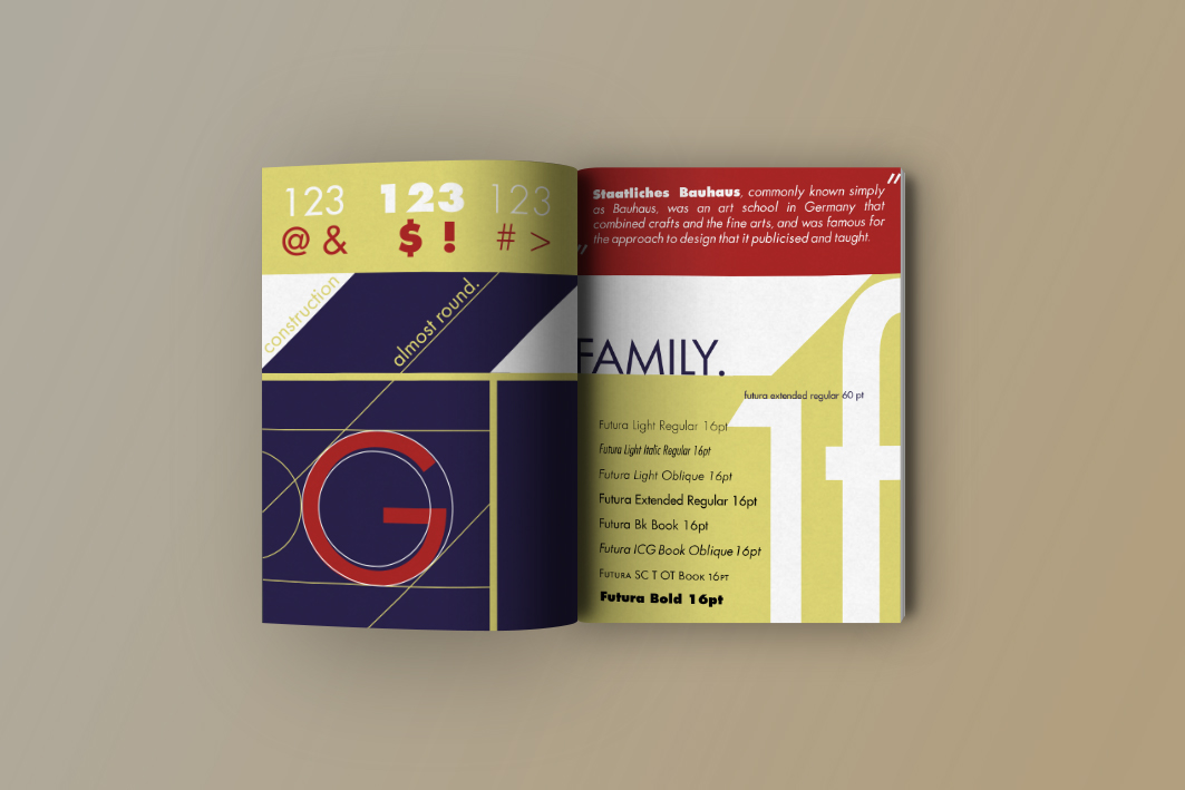 FONTBOOK AND TYPOGRAPHIC POSTER - FUTURA on Behance