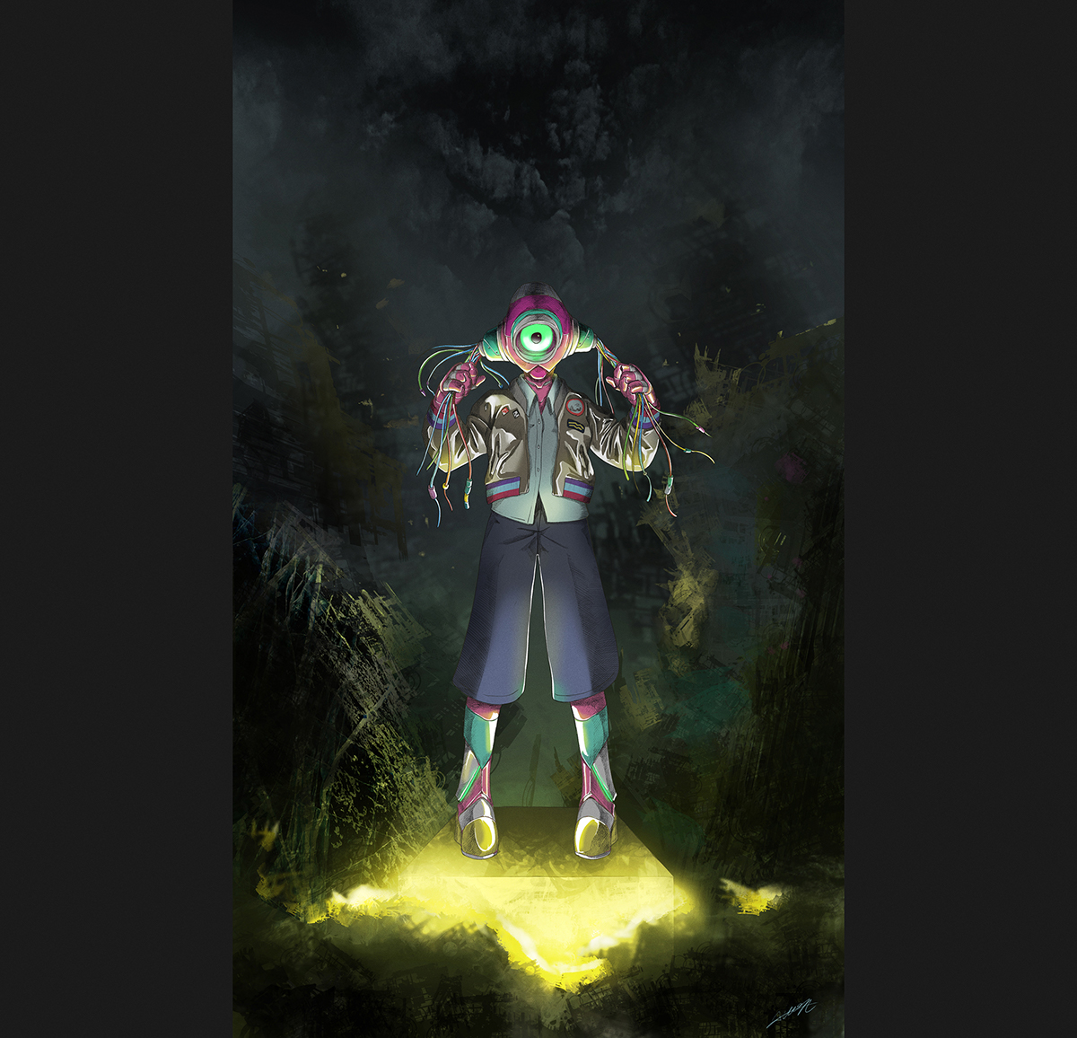 hope robot apocalypse jacket Diesel lights ruins Fashion  machine girl