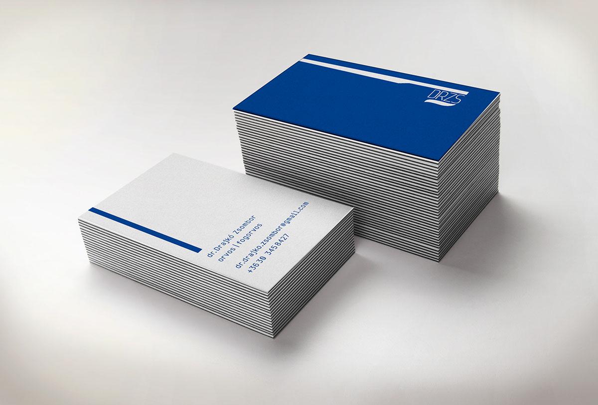 dentist business card design clean