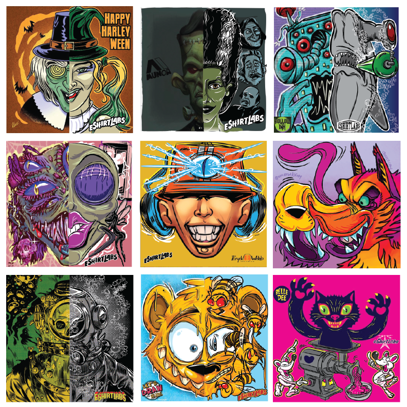 bees caricatures Cartoons cats collabs monsters Pop Art