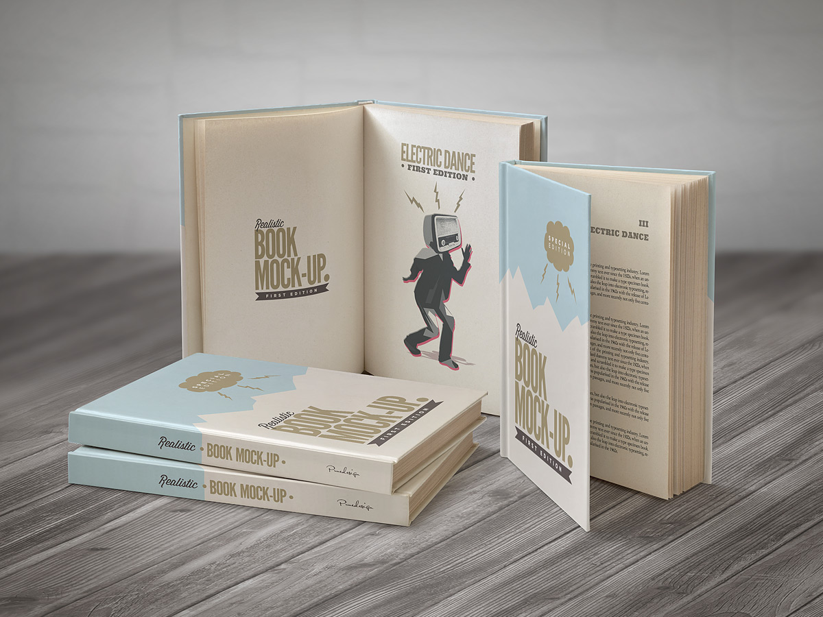 Cook Book Cover Up ~ Book mockup set on behance