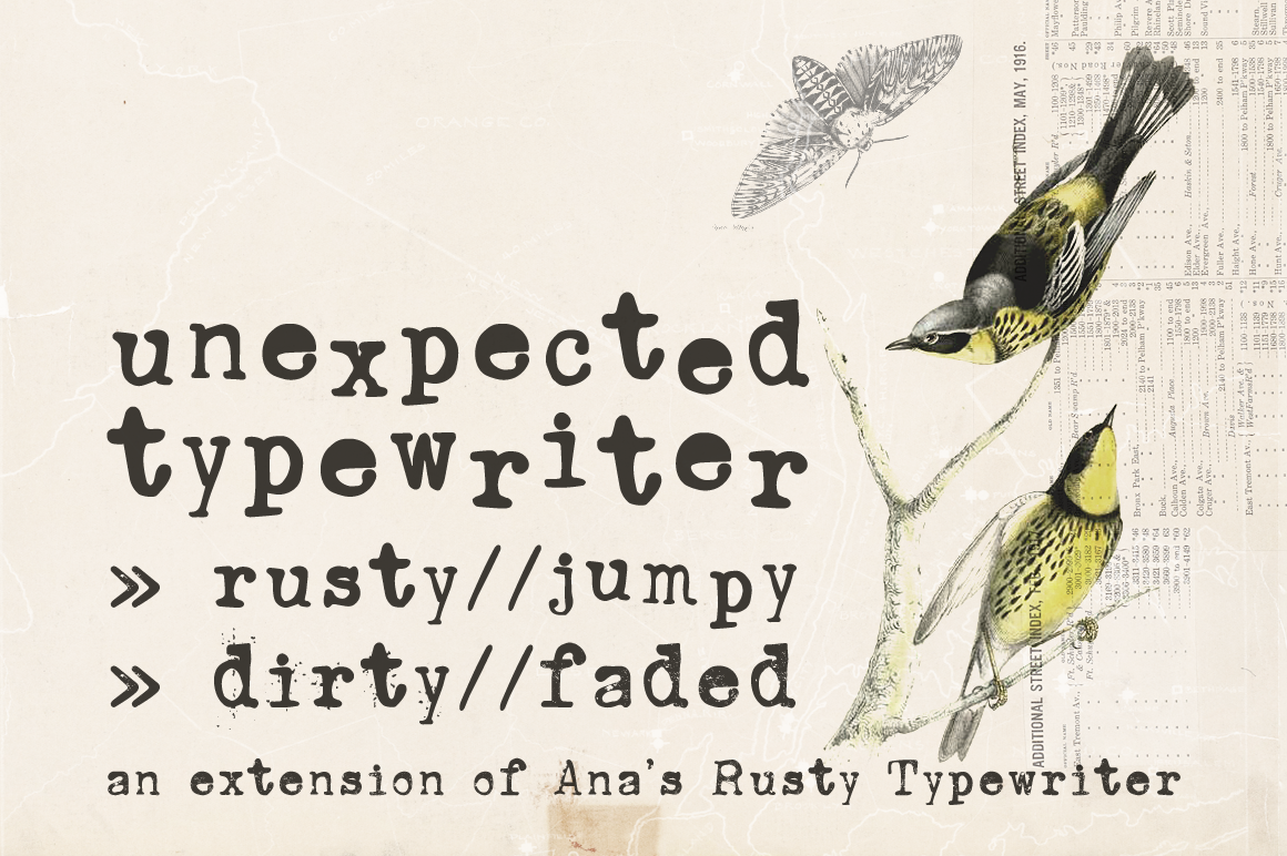 Unexpected Typewriter Font on Behance
