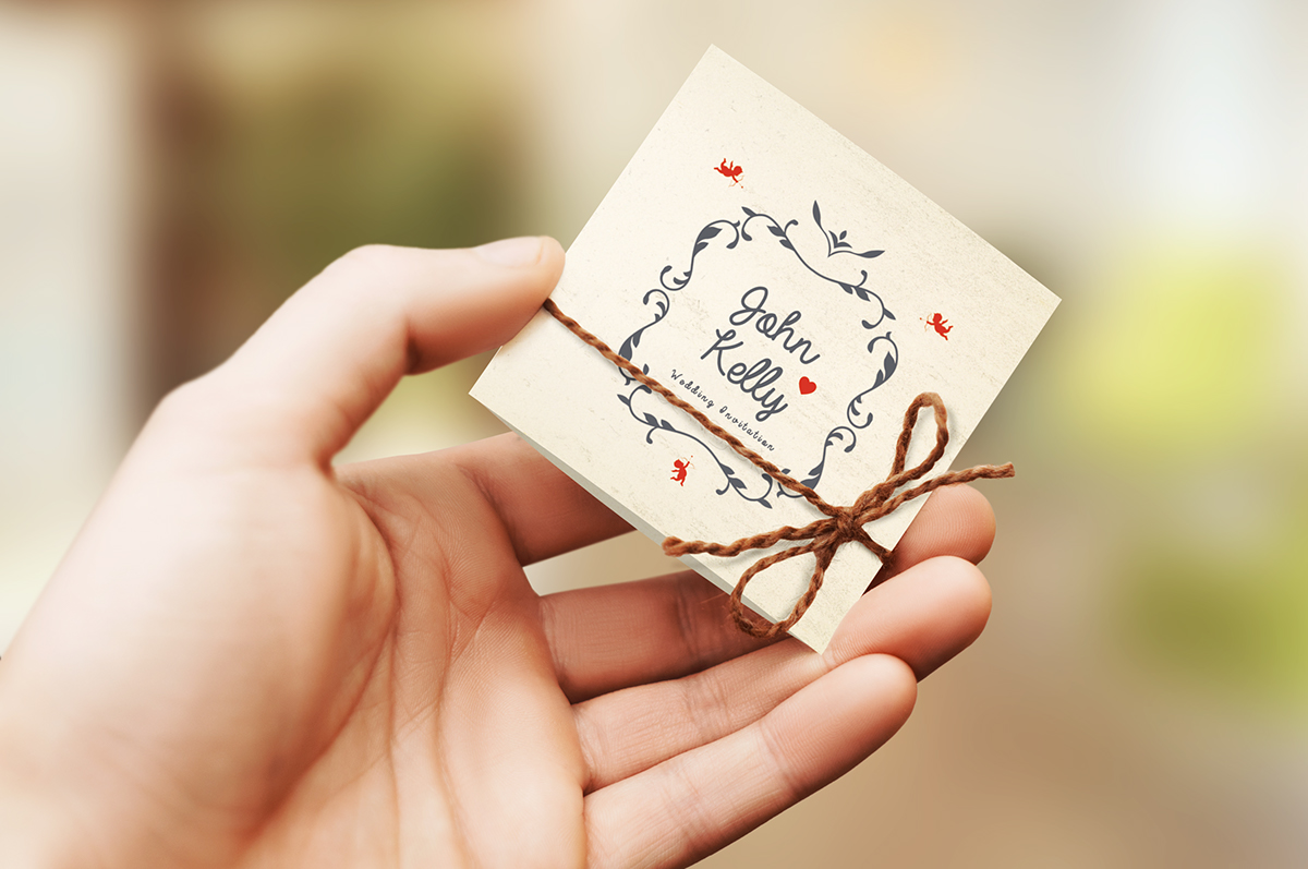 Mini Wedding Invitation Card on Behance