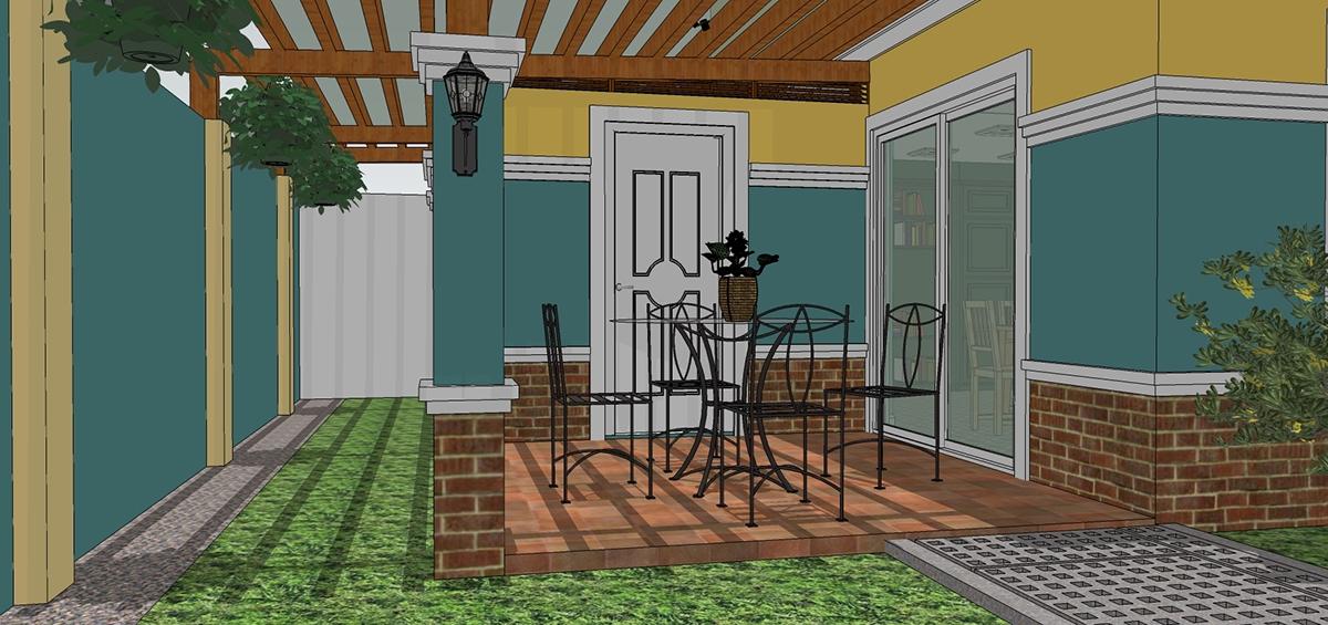 New perimeter fence with kitchen lanai extension on behance for Lanai extension