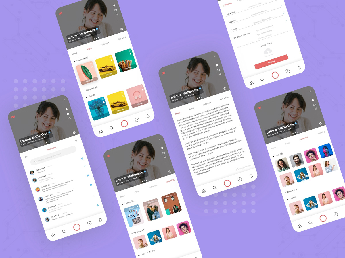 Social Media App Exploration On Pantone Canvas Gallery