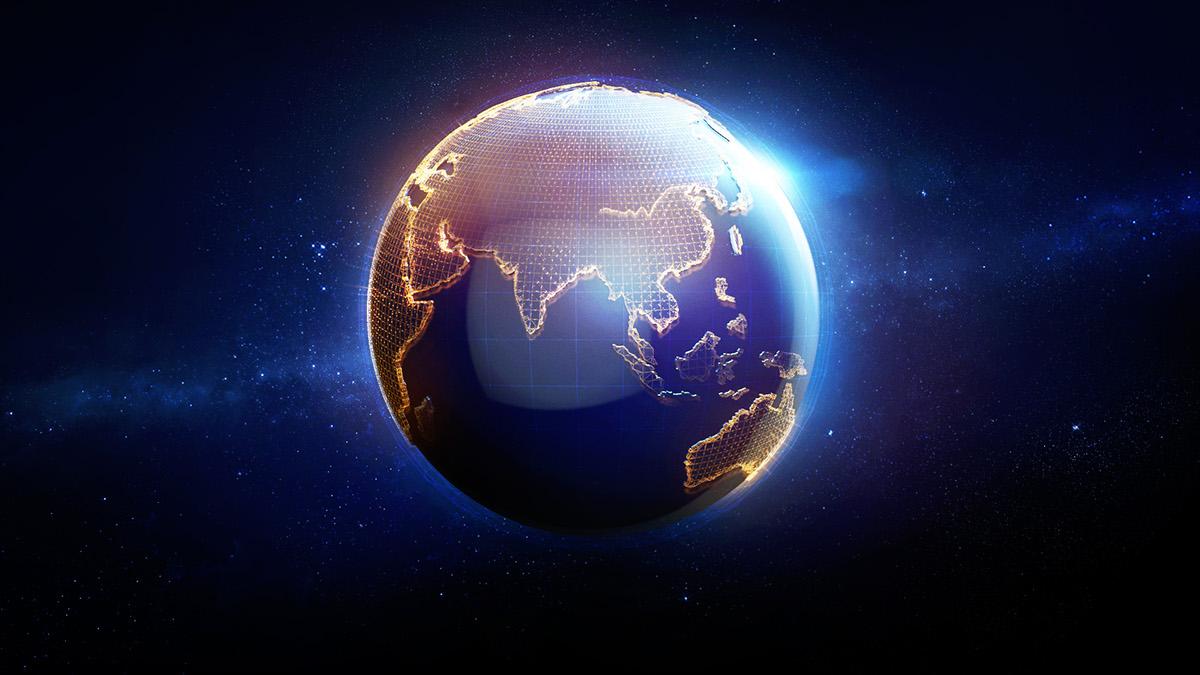 styleframe news lights china illumination city great wall globe International c4d