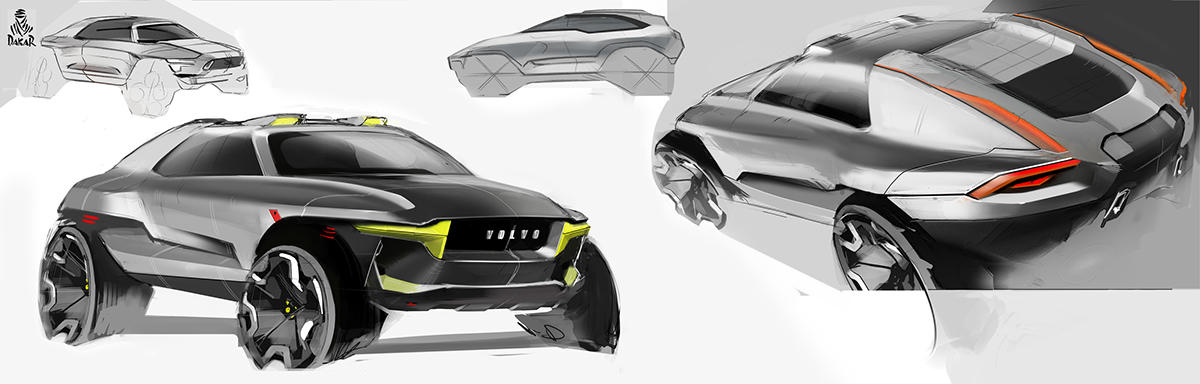 volvo compact suv sketches on behance. Black Bedroom Furniture Sets. Home Design Ideas