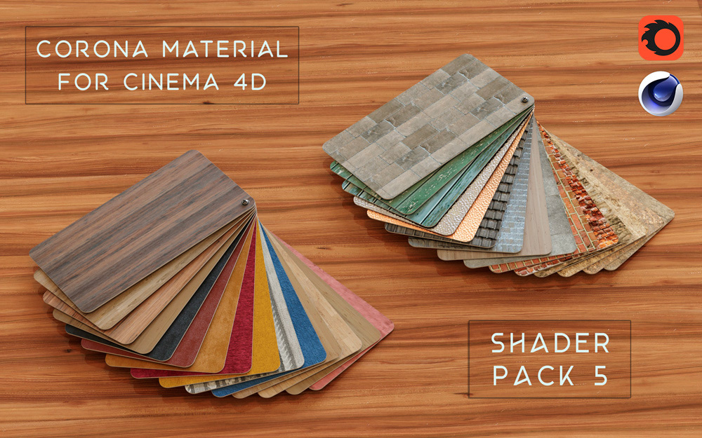 Corona shaders pack for Cinema 4D CORONA MATERIALS LIBRARY c4d corona PBR TEXTURE.