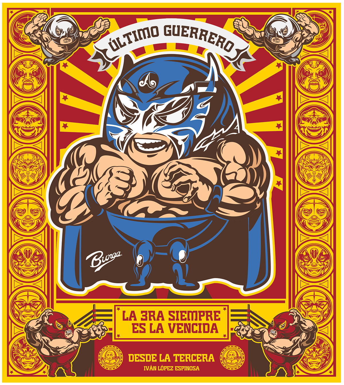 Serie Lucha Libre Mexicana (carteles) on Behance