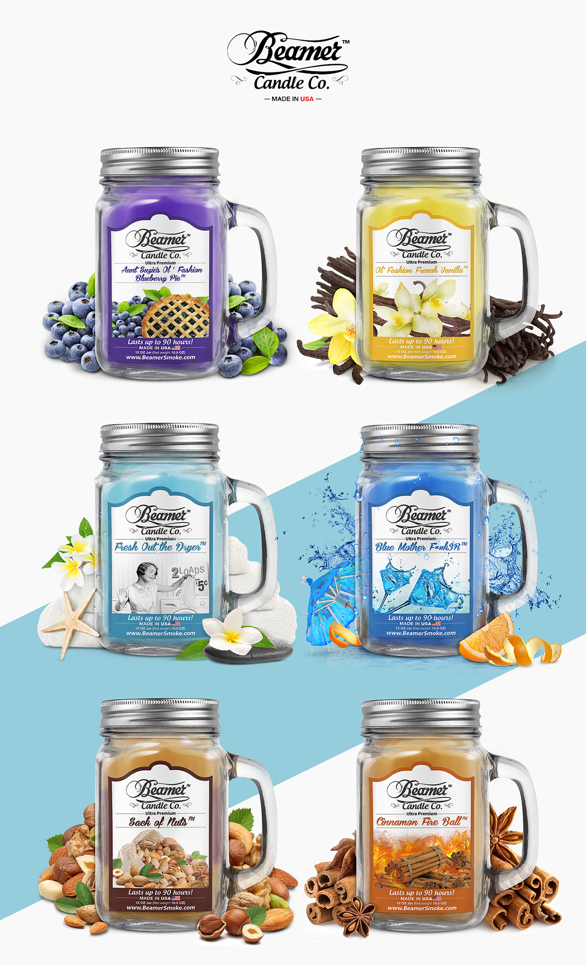 Candles Packaging Design on Student Show