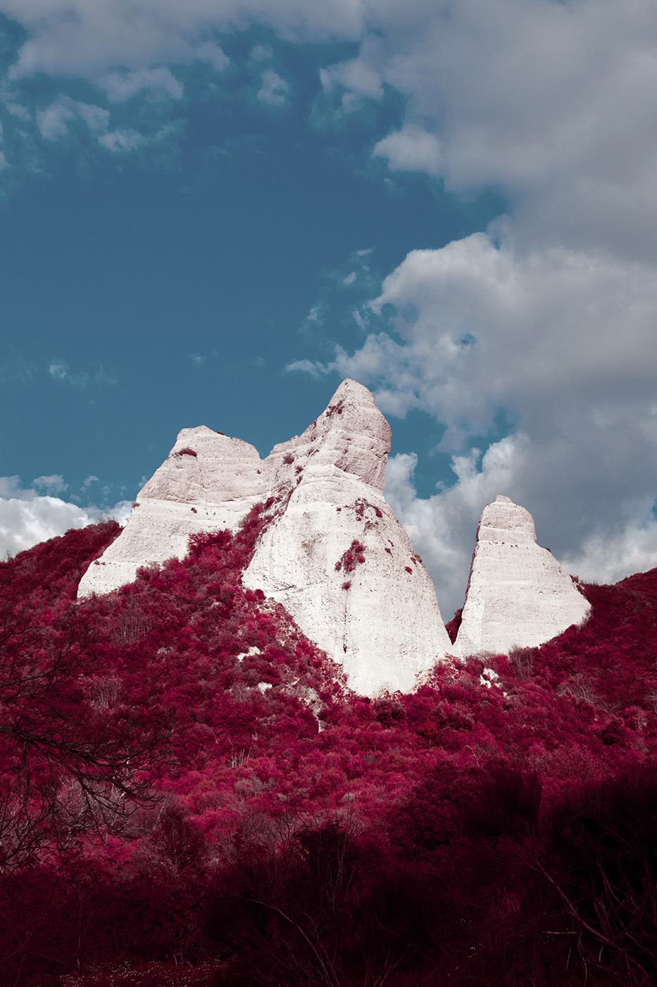 Nature red cold Hot mood mountain river emotion Landscape Minimalism