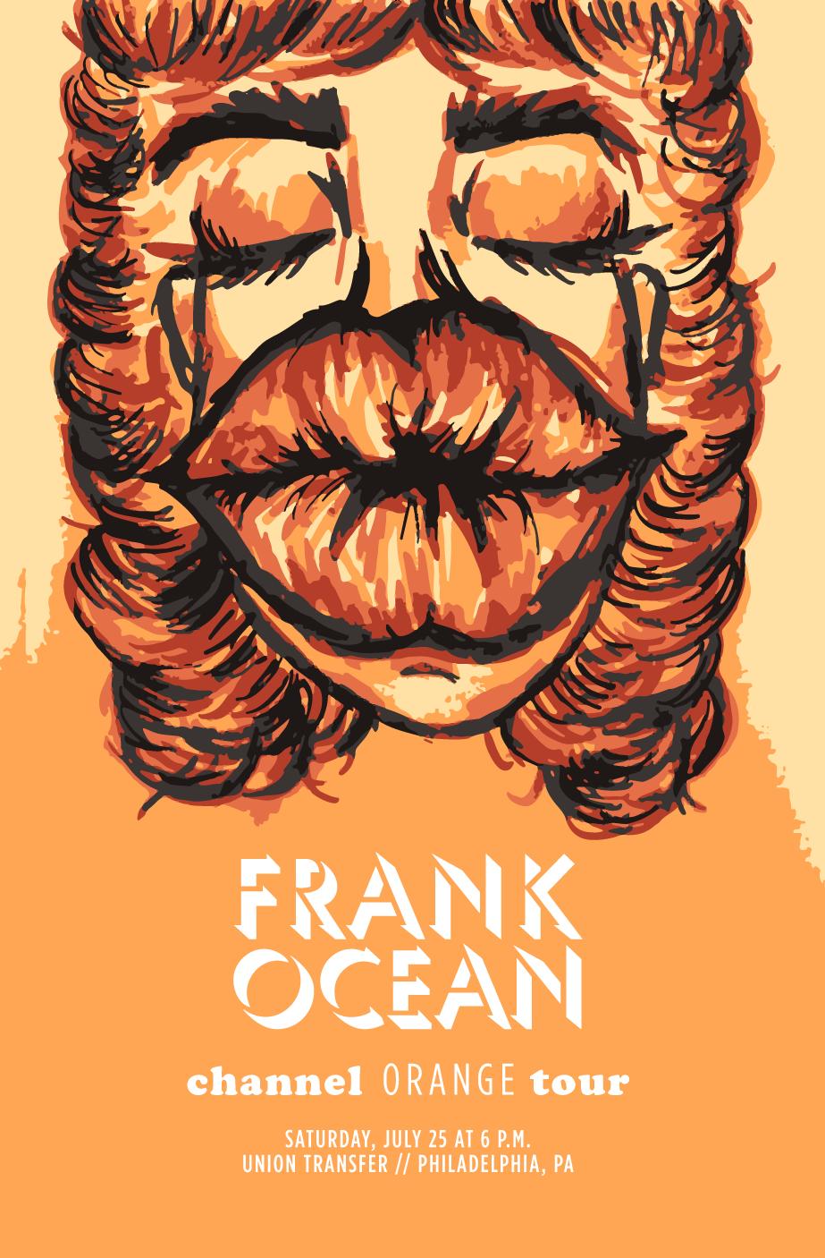 Frank Ocean Gig Poster On Behance