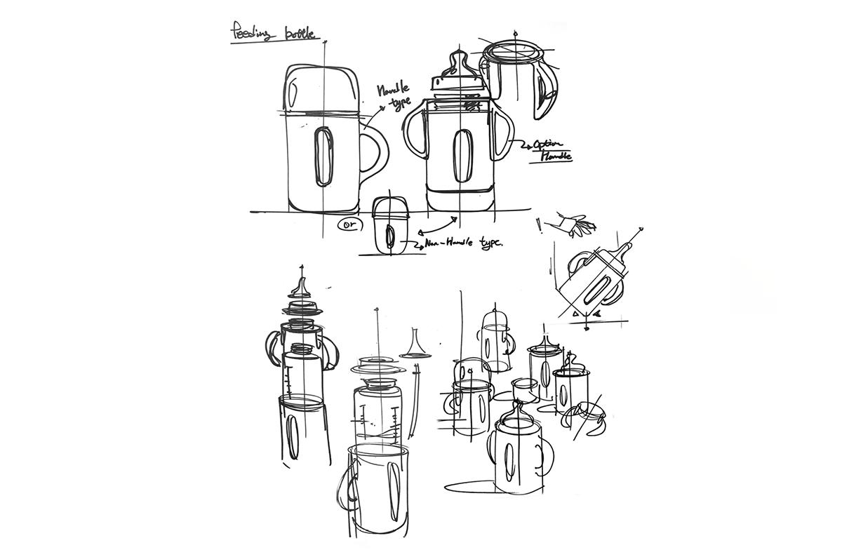 3D Rendering bottle design concept design design process design studio industrial design  product design  Product Design portfolio