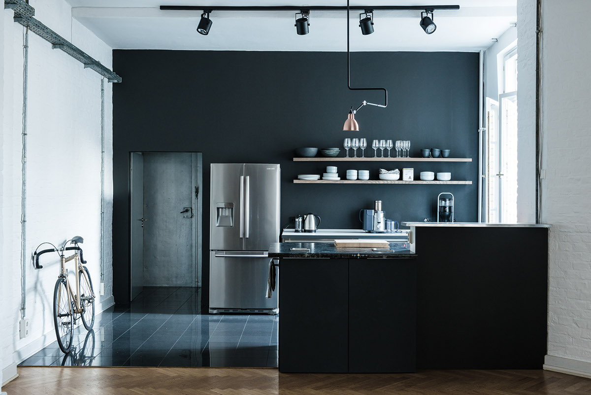 loft apartment studio berlin on behance. Black Bedroom Furniture Sets. Home Design Ideas