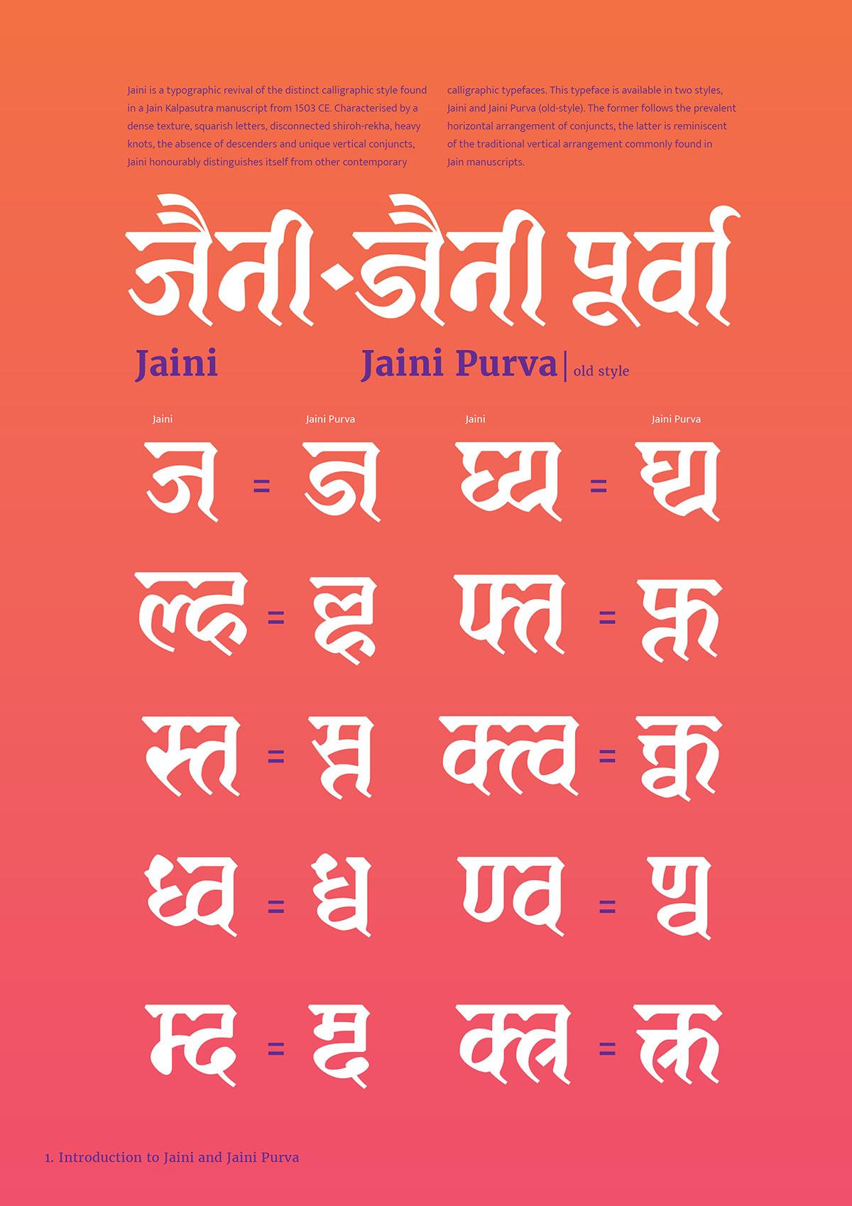 Jaini (Devanagari font) based on 1503 AD manuscript  on Behance