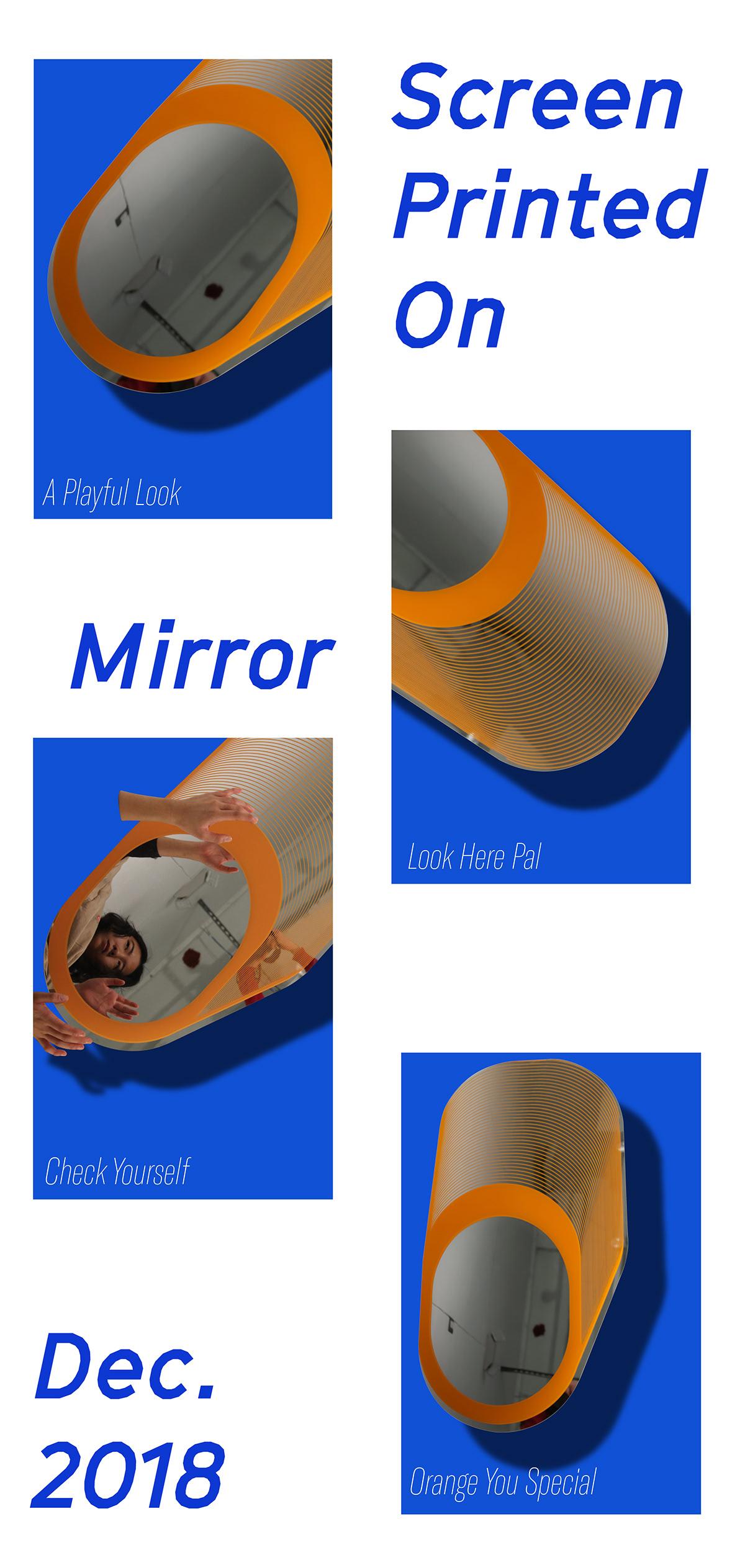 mirror screen print design laser cutting