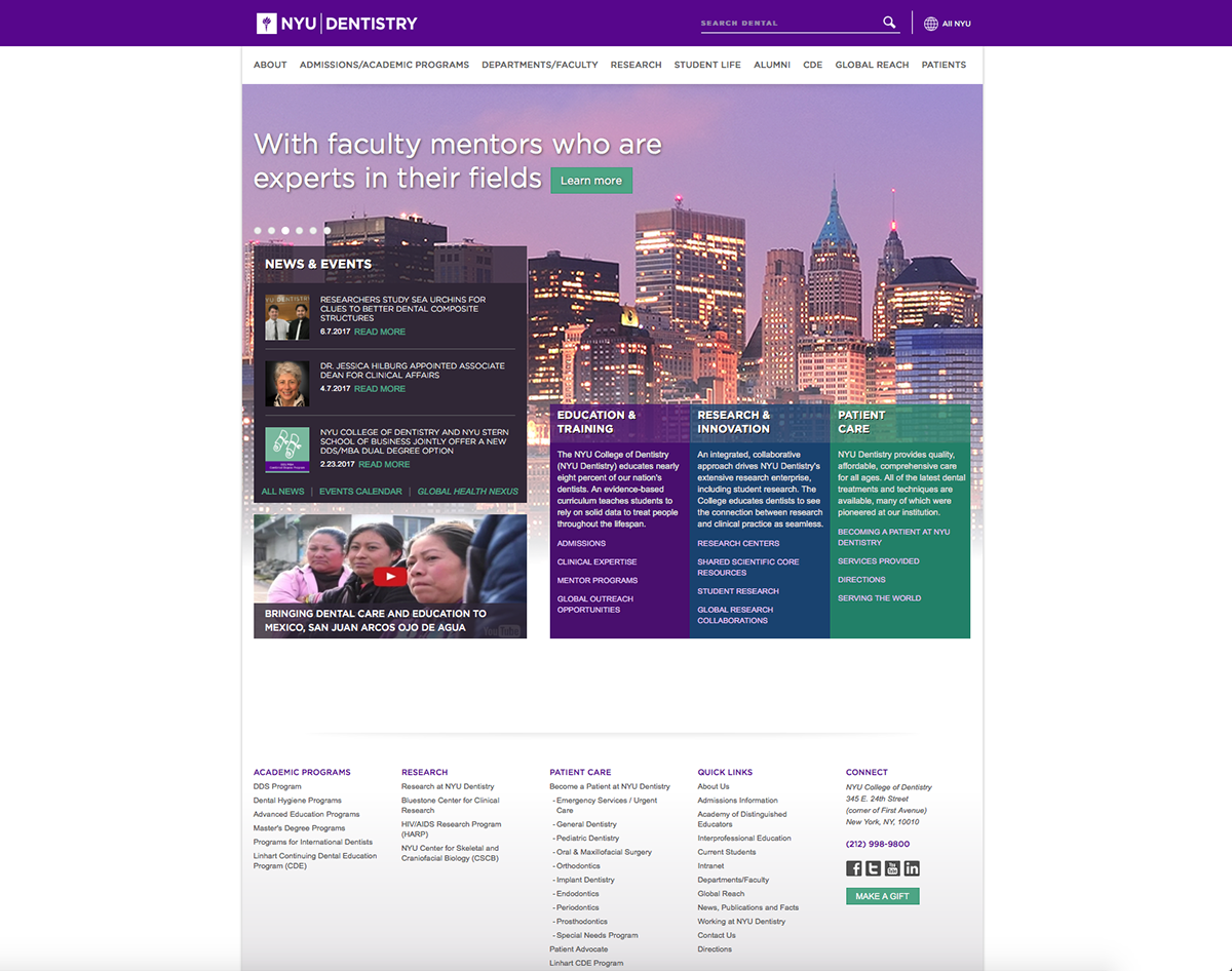 NYU Site Design on Behance